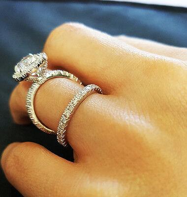 3.55Ct Cushion Cut Diamond Engagement Ring +Wedding Band  D/VS1 GIA 14kw Natural 1
