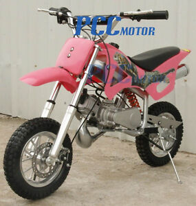 FREE-SHIPPING-KIDS-49CC-2-STROKE-MOTOR-MINI-BIKE-DIRT-POCKET-BIKE-PINK-H-DB49A