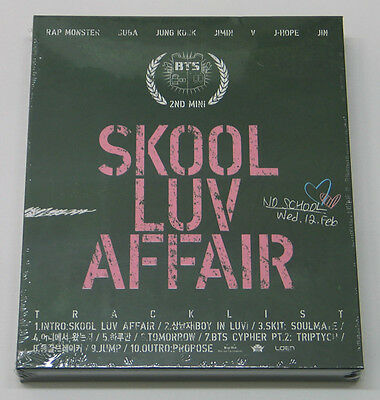 BTS - Skool Luv Affair (2nd Mini Album) CD+Photobook+Photocard+Free Gift K-POP