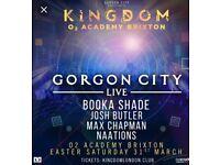 2 X Gorgon City tickets