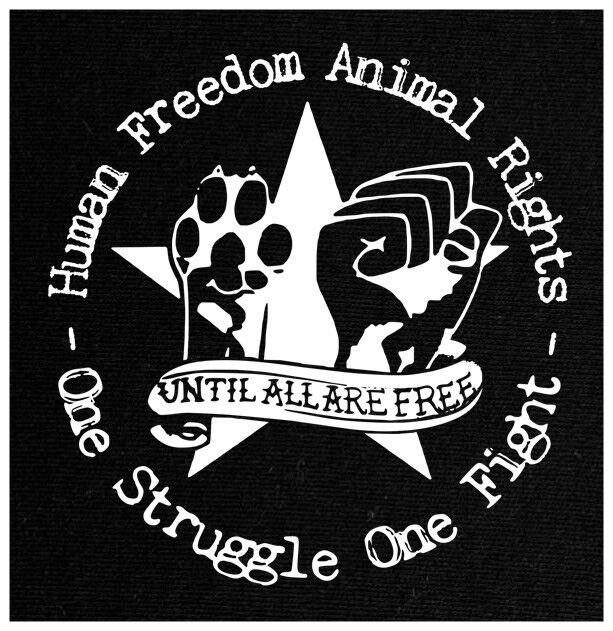 Human Freedom Animal Rights Patch, aus Baumwolle (fest oder elastisch)