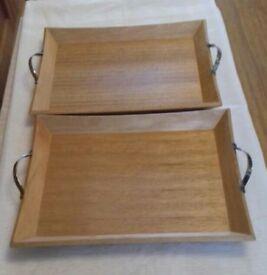Oak serving trays