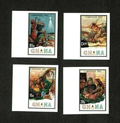 Ghana 1982 - Scott# 817-20 Christmas, Nativity - Imperf - Set of 4 Stamps - MNH