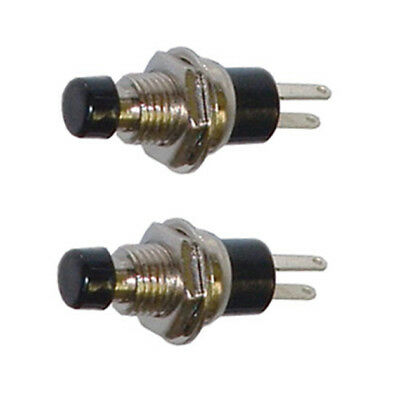 2 Pack SPST Normally Open Momentary Push Button Switch Black    32728BK