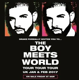 Drake Standing Tickets 14th February o2 Arena x4 £150 each