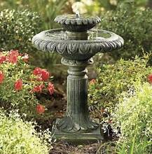 Solar pump water feature Garden Two-Tier birdbath fountain F311 Athelstone Campbelltown Area Preview