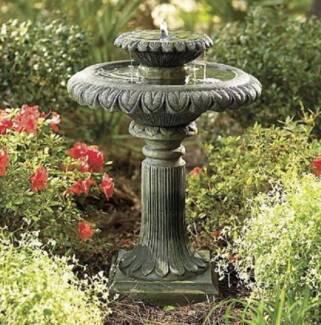Solar pump water feature Garden Two-Tier birdbath fountain F311 Athelstone Campbelltown Area Preview