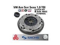 SACHS Clutch & Dual Mass Flywheel Kit - VW Audi Seat Skoda BKC BXE BLS 1.9 TDI