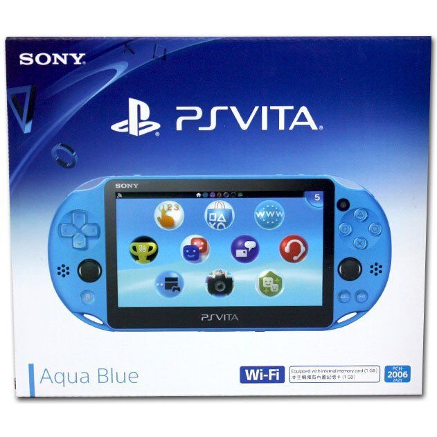 Sony Playstation PS Vita - New Slim Model - PCH-2006 (Aqua Blue)