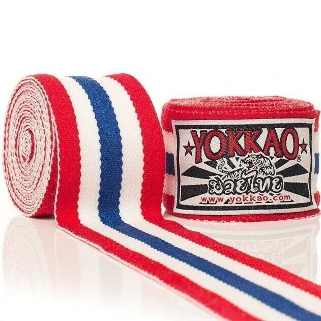 Yokkao Hand Wraps Thai Flag 4M Stretch Muay Thai Boxing Kickboxing K1 Training