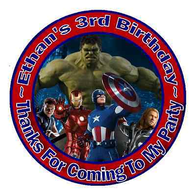 THE AVENGERS BIRTHDAY THANK YOU (THANKS) FOR COMING TO MY PARTY STICKERS FAVORS (The Avengers Birthday Party)
