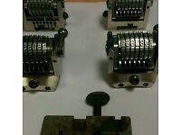 Printers numbering boxes