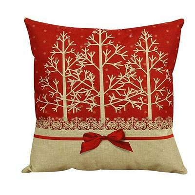 Vintage Christmas Decor Cushion Cover Throw Pillow Pillowslip Case For Sofa Bed