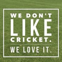 Cricket Players Needed - we don't like cricket, we LOVE it!