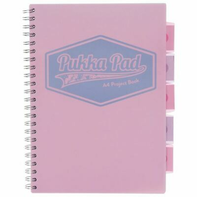 Pukka Pad Pastel Assorted A4 Project Notebook With 5 Movable Subject Dividers