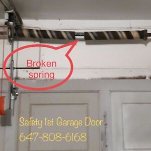 Fix or Replace Garage Door Spring and Cables 647-808-6168