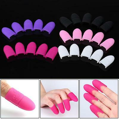 10x Stylish Plastic Nail Art Soak Off Clip Cap UV Gel Polish Remover Wrap sy