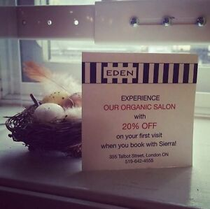 Eden Organic Salon welcomes new clients London Ontario image 1