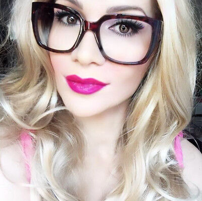 Large Square NIA Rectangular SexY Frames Fashion WaYfe Big Eyeglasses Glasses L (Big Glasses Frames)