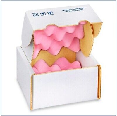 Uline Anti-static Foam Shippers S-54805x5x3 Pinkwhite Reusable 6 Pack