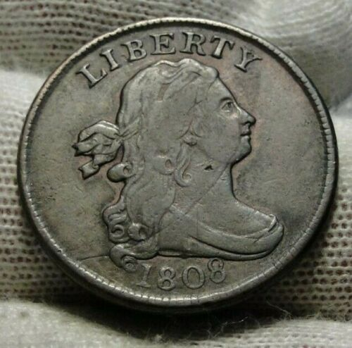1808 Draped Bust Half Cent - Nice Coin, Free Shipping  (9424)