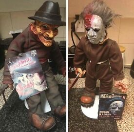 Cinema of fear Freddy Kruger and michel Myers plush doll collectors item.