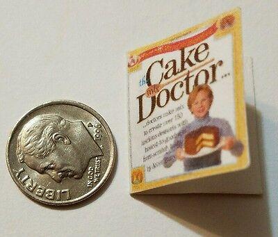 Miniature dollhouse Martha Stewart Cook Book Barbie 1//12 Scale  Baking Cup cake