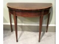 Antique Edwardian inlaid mahogany card table * free furniture delivery *