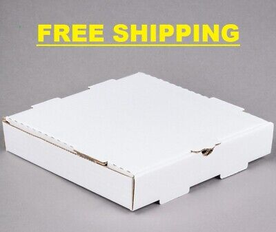 50-pack 10 X 10 X 2 White Corrugated Plain Pizza Bakery Box