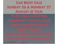 Car Boot Sale This Bank Holiday £2 Per Vehicle any VEHICLE Come down n join us