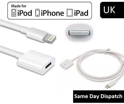 1 Meter Lightning Male To Female Extension Cable For Apple iPhone 6 7 8 X 11 UK
