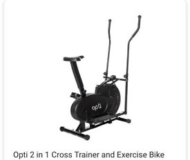 2 in 1 optic bike/crosstrainer