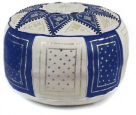 Moroccan Leather pouffe soft handmade