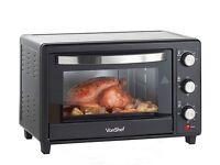 VonChef 30l Mini Oven Black Brand New In Sealed Box