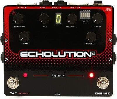 Pigtronix Echolution 2 Delay Guitar Effect Pedal with FREE Power Supply - New!
