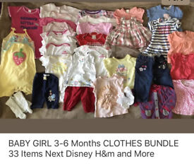 BABY GIRL 3-6 MONTHS SUMMER CLOTHES BUNDLE