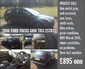 Great value, well serviced and maintained, new tyres and MOT till March 2019