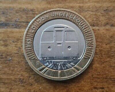 £2 pound coin 2013  London Underground Train