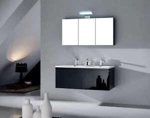 Mobile bagno doppio lavabo arredo bagno completo pensile for Mobile pensile bagno