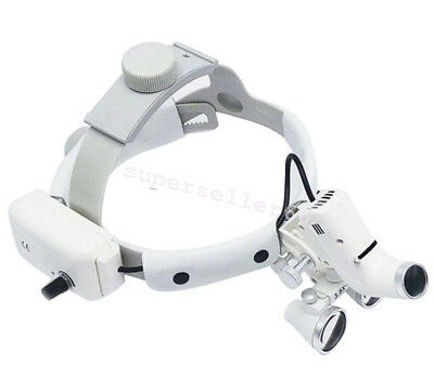 Dental 3.5x Headband Medical Binocular Loupes Magnifier Led Headlight Ajustable
