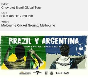 Brazil vs Argentina - Gold ticket Georges Hall Bankstown Area Preview