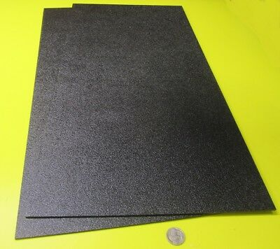 Black Abs Sheet 18 .125 X 12 X 24 Haircell Textured One Side 2 Units