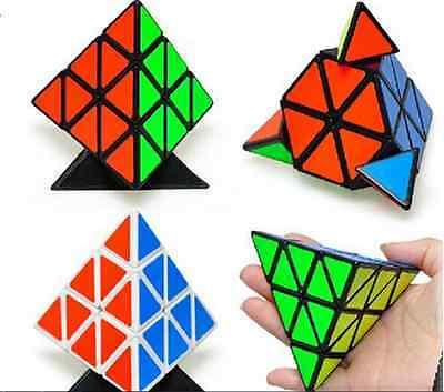 Smooth Triangle Magic Cube Twist Pyramid Pyraminx Puzzle Child Kid boy Girl Toy