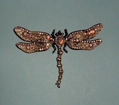 JOAN RIVERS CLASSIC COLLECTION - ENAMEL & CRYSTAL DRAGONFLY BROOCH