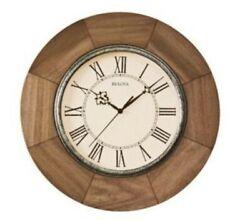 Bulova C4223 Light Oak 14 Battery Wall Classic Design Clock $117 Retail MK10