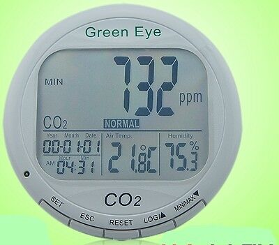 Carbon Dioxide Co2 Temp. Humidity 3in1 Detector Meter Data Logger 16k Alarm Usb