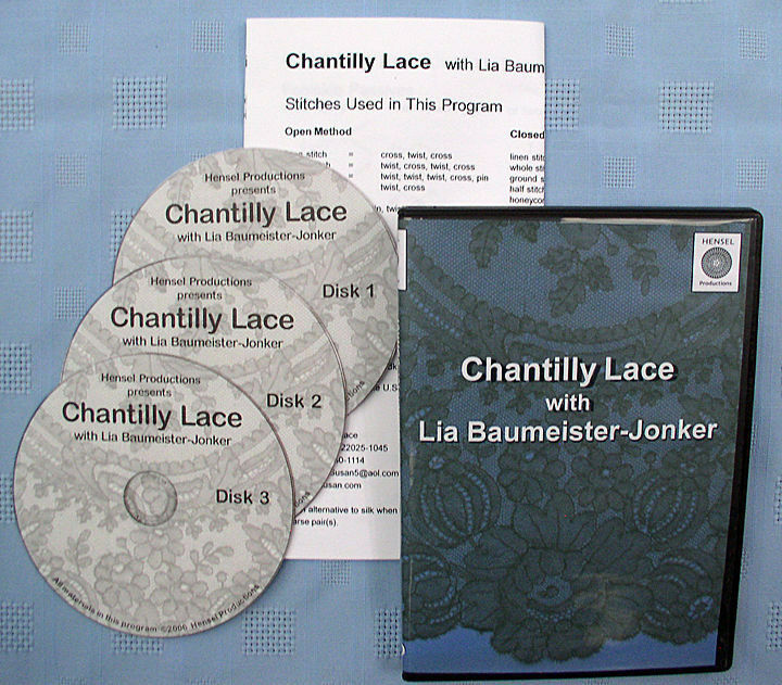 Chantilly Lace Bobbin Lace Making Instructional DVD Set Lia Baumeister-Jonker