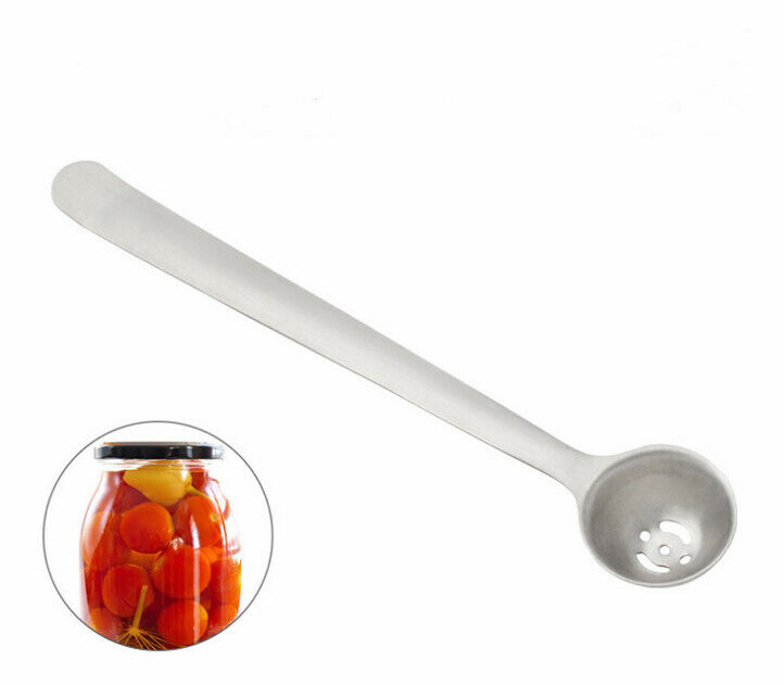 Stainless Steel Olive Spoon Cherry Spoon With Drain Hole Jam Slotted Spoon Tools