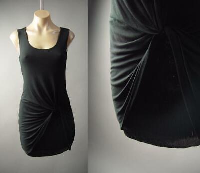 Black Twist Drape Ruched Sequin Mini Skirt Evening Cocktail 296 mvp Dress S M (Drape Evening Cocktail Mini)