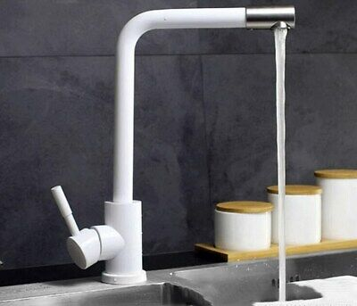 Best White Stainless Kitchen Faucet Basin Bathroom Hot and Cold Deck